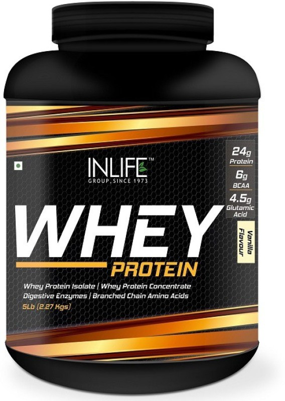 Inlife 5Lb Whey Protein(2.27 kg, Vanilla)