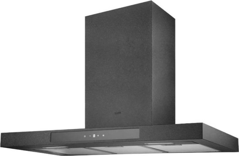 Kaff STONEART 90 Wall Mounted Chimney(Black with Stone 1180)
