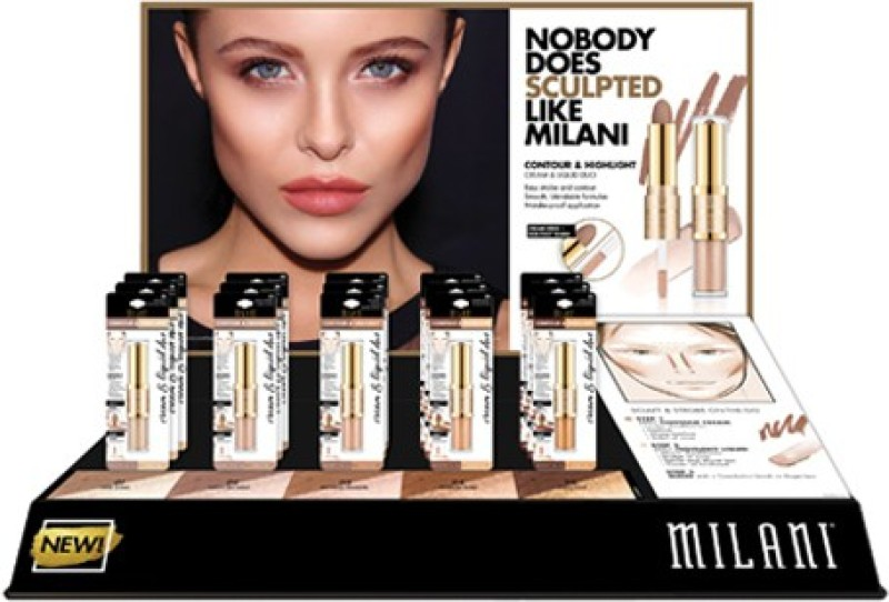 Milani Contour & Highlight Cream & Liquid Duo Compact - 3.6 g(Multicolor)