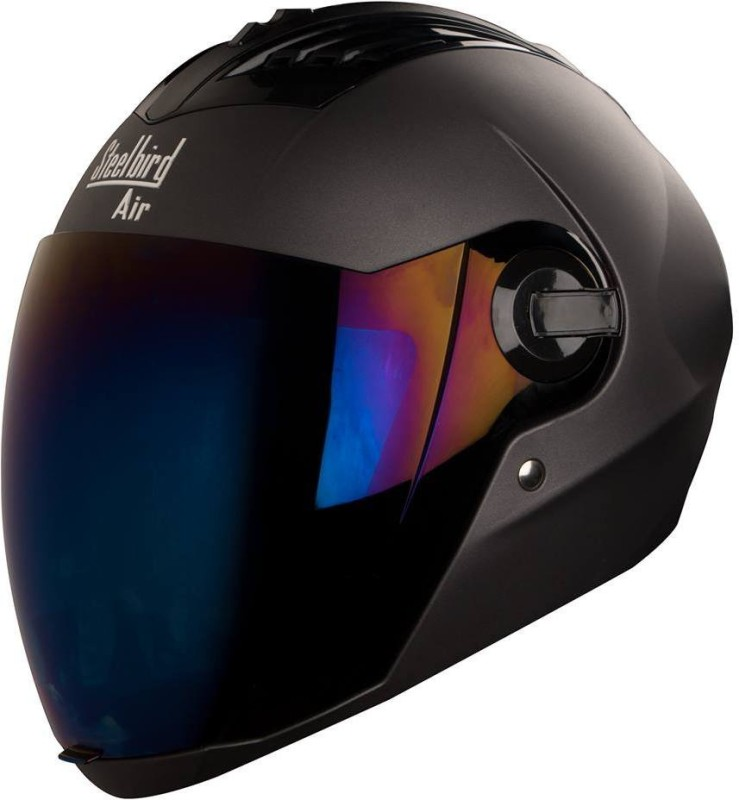Steelbird supreme with 1 extra visior Motorbike Helmet(rubber black)