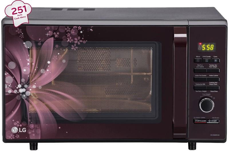 LG 28 L Convection Microwave Oven(MC2886BRUM, Black)
