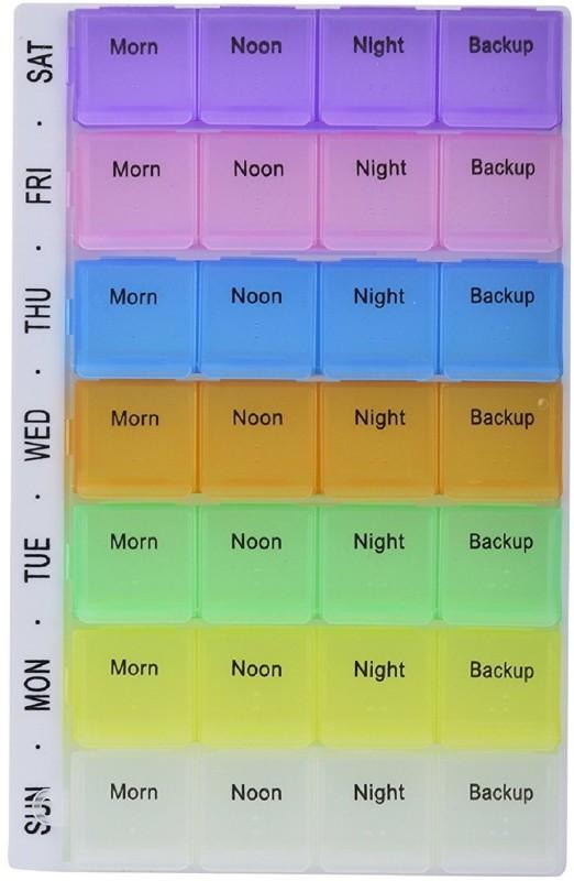 HUNTING HOBBY 7-Days Medicine Box Organiser With Tray Medication Planner Pill Box(Multicolor)