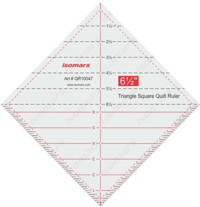 Isomars Triangular Square Quilt Ruler Quilting Stencil(Pack of 1)