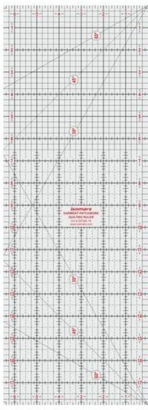 Isomars Garment Patchwork Quilting Ruler - 18
