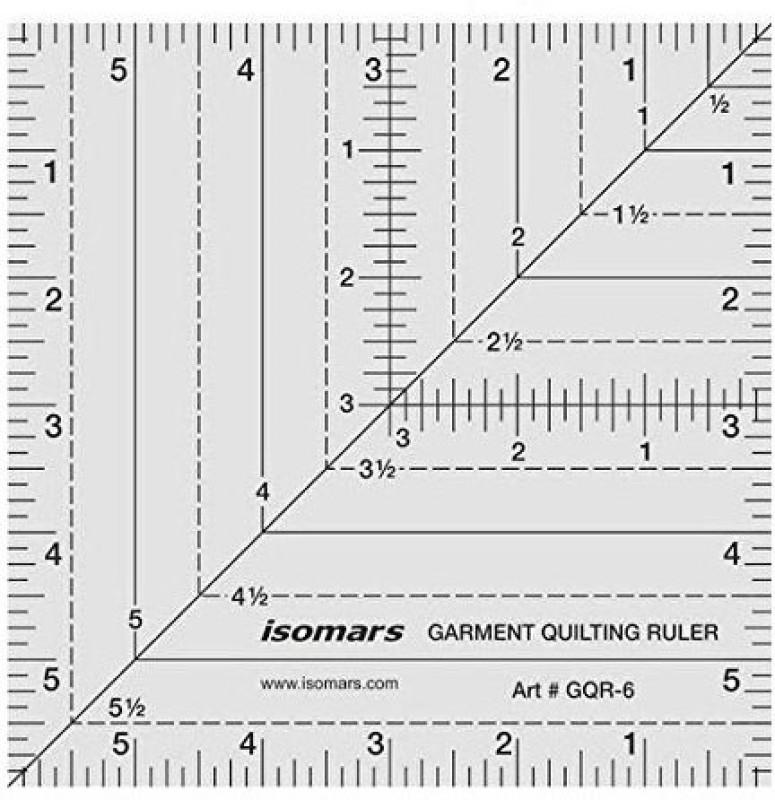 Isomars Garment Quilting Ruler 6