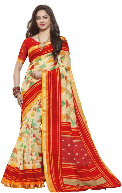 KJS Embellished Bollywood Art Silk Saree(Multicolor)
