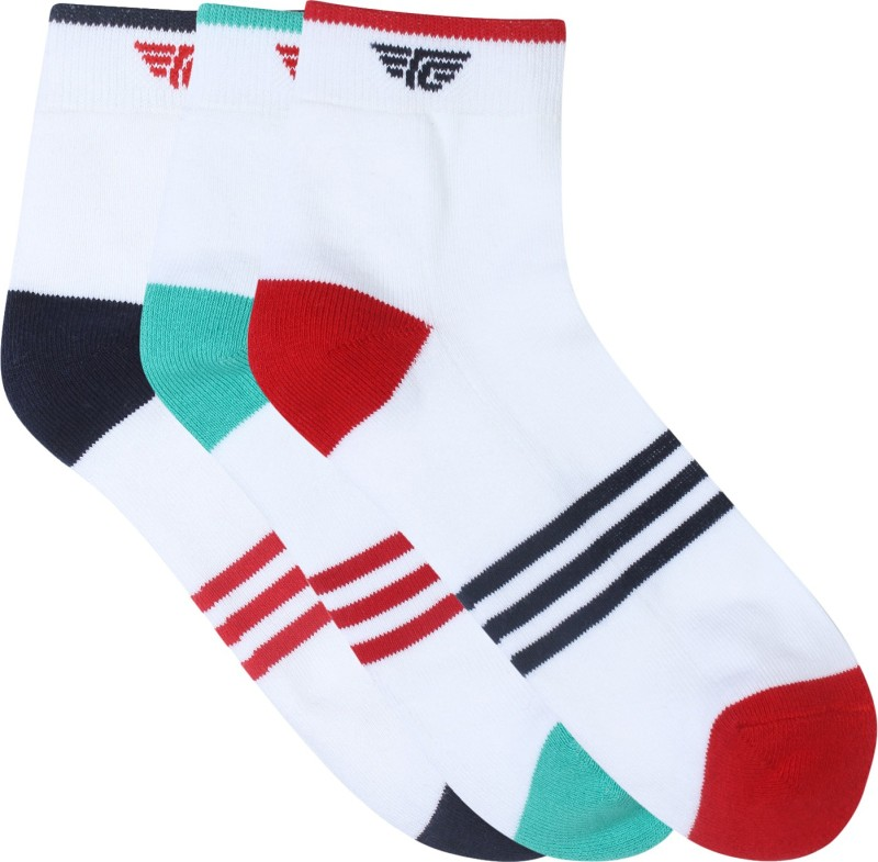 Red Tape Mens Striped Ankle Length Socks(Pack of 3)