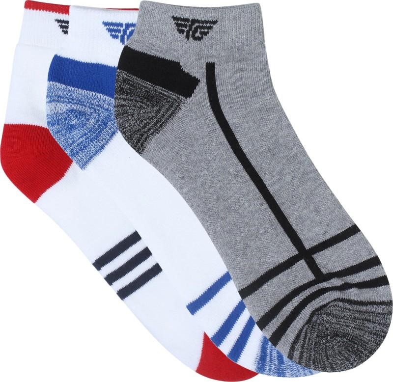 Red Tape Mens Self Design Ankle Length Socks(Pack of 3)