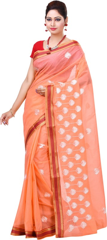 Jai Bholenath Fashions Embroidered Bollywood Net Saree(Pink)