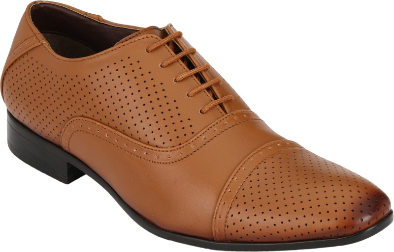 Real Blue Lace Up For Men(Tan)