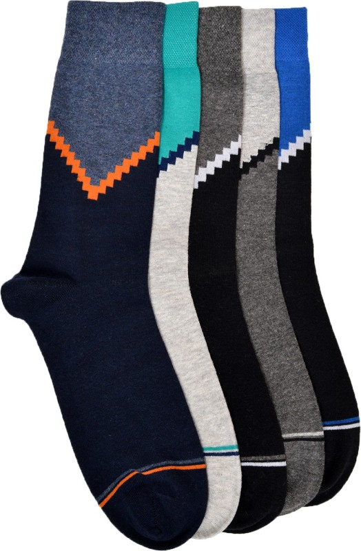 VINENZIA Mens Mid-calf Length Socks(Pack of 5)
