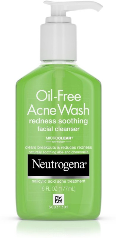 Neutrogena Oil Free Acne Wash Redness Soothing Facial Cleanser Face Wash(177 ml)