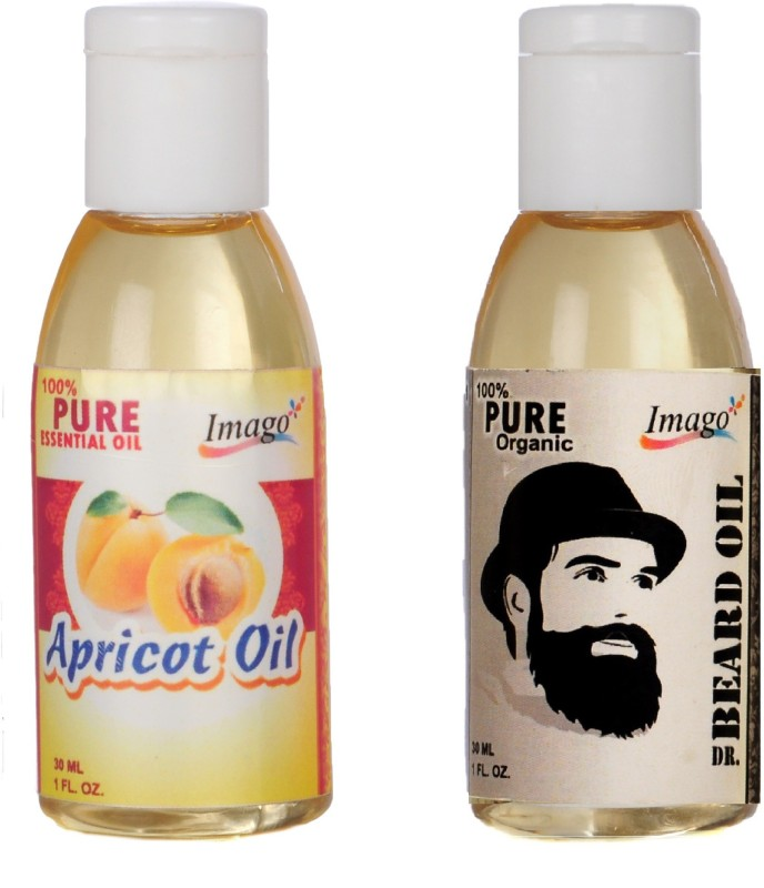 Imago Apricot Essential Oil & Beard Moustache Growth Oil for Skin Hair Massage Hair Oil(60 ml)