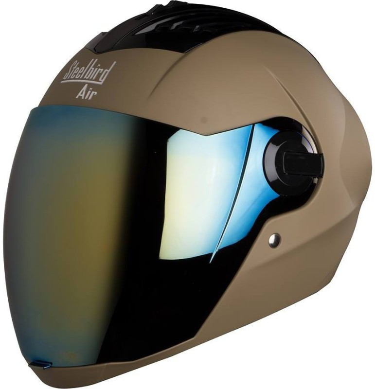 Steelbird sba 2 supreme plus with 1 extra visior Motorbike Helmet(Brown)