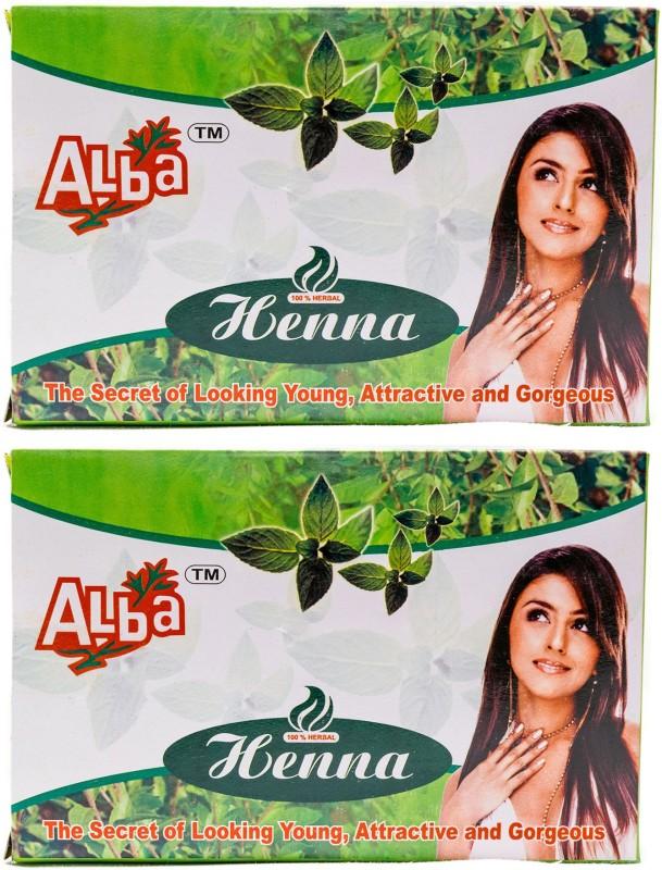 Alba Henna Powder (100% Natural Henna Powder - Natural Hair Colour) - Combo Pack of 2, 200g each (400g)(400 g)