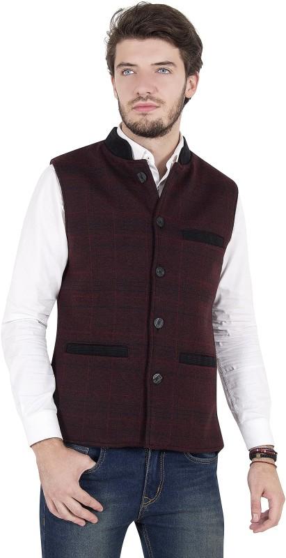Zoravie Sleeveless Checkered Mens Jacket
