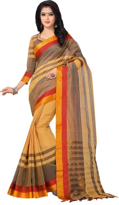 Ishin Woven Mysore Cotton Saree(Beige)