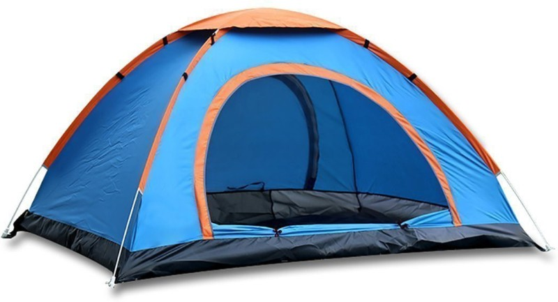 HUNTING HOBBY Waterproof UV Protection Portable Outdoor Camping Tent With Carrying Bag Tent - For 2 Persons(Multicolor)
