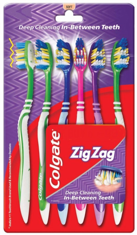 Colgate ZigZag Soft Toothbrush(Pack of 6)