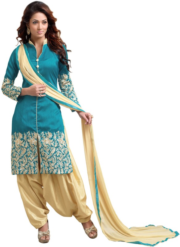 Blissta Silk Embroidered Salwar Suit Dupatta Material(Un-stitched)