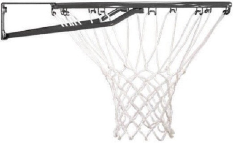 FACTO POWER With Net, And Basket Ball, Black Color, 8 mm., Basketball Ring(7 Basketball Size With Net)