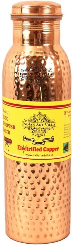 IndianArtVilla Copper Hammered Leak Proof Bottle 1000 ML 1000 ml Bottle(Pack of 1, Brown)