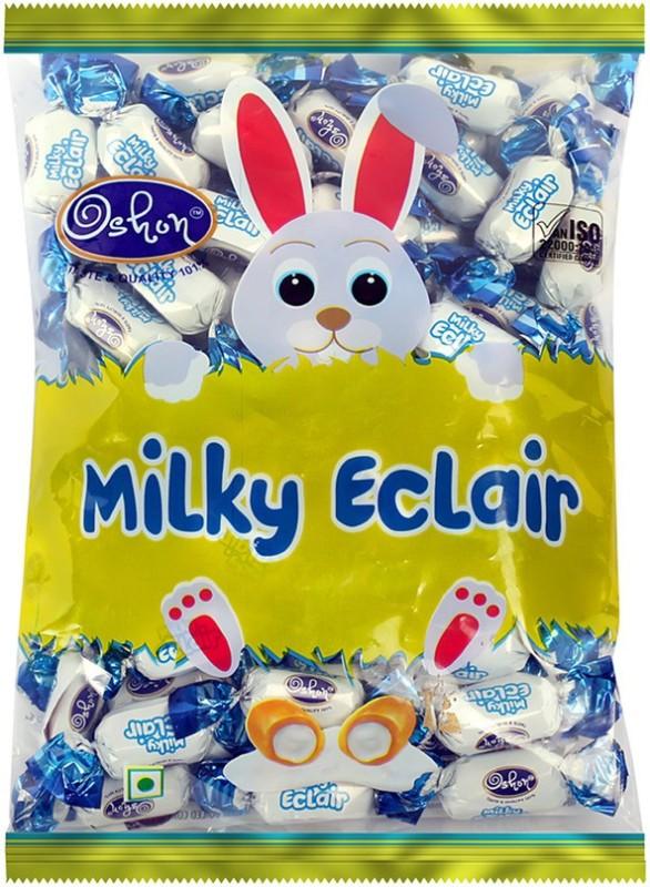 Oshon Milky Eclair, 77 Pieces Pouch Vanilla Cream Toffee(490 g)