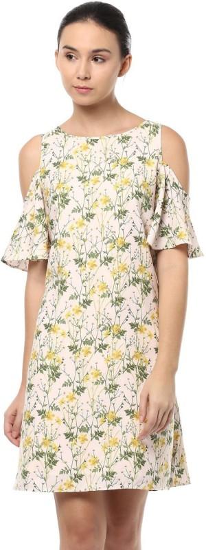 Allen Solly Women Shift Beige Dress