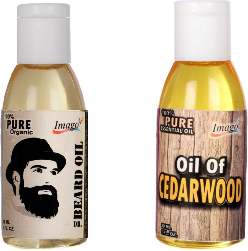 Imago Beard Moustache Oil & Cedarwood Essential Oil For Skin Hair Hair Oil(60 ml)