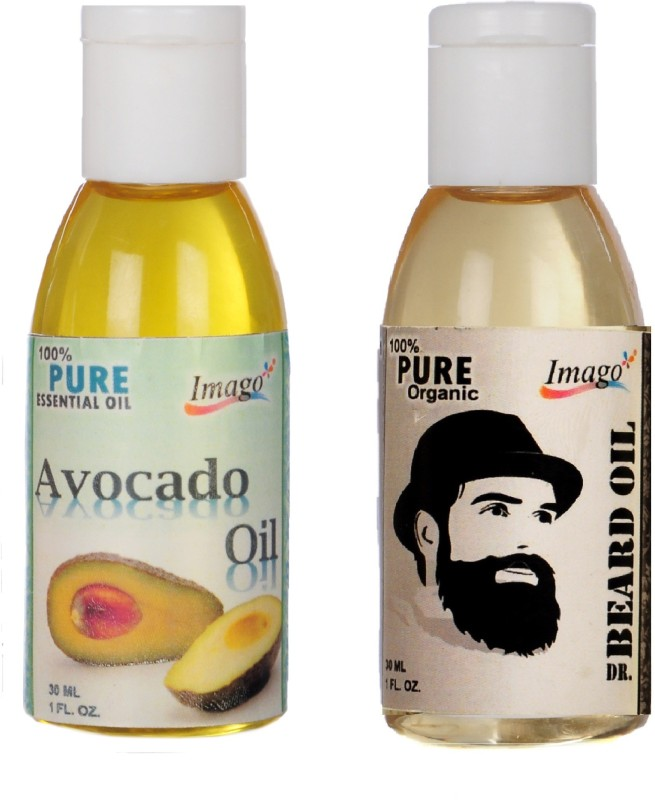 Imago Avocado Essential Oil & Beard Moustache Growth Oil for Skin Hair Massage Hair Oil(60 ml)