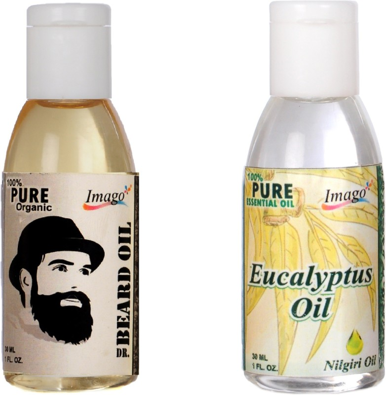 Imago Beard Moustache Oil & Eucalyptus Essential Oil For Cough cold skin Hair Hair Oil(60 ml)