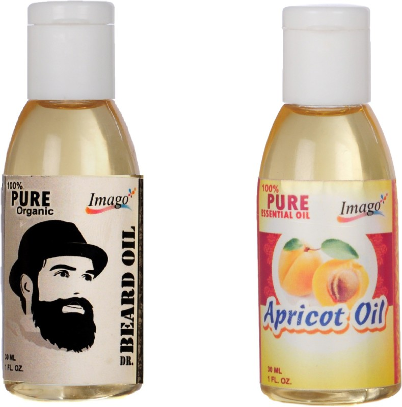 Imago Beard Moustache Oil & Apricot Essential Oil For Skin Hair Hair Oil(60 ml)