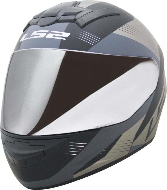 LS2 Helmet FF352-L Trooper Black White Matt With Mercury Visor Motorbike Helmet(Black, Grey)