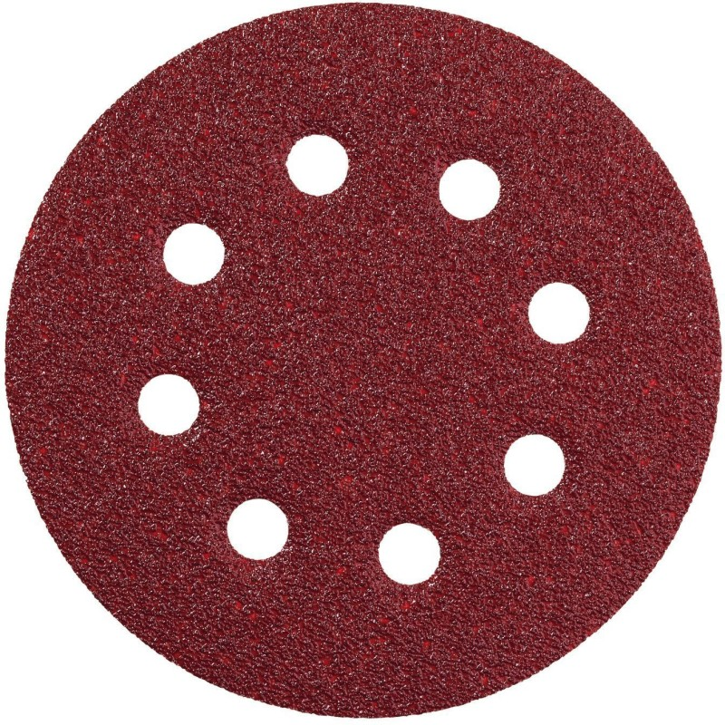 ISC Velcro Sanding Disc Paper 120 Grit For Velcro Pad 5 Pack of 10 Pcs Emery Sandpaper(120 Pack of 10)