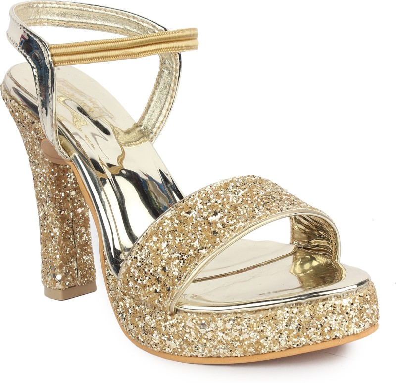 London Steps Women Golden Heels