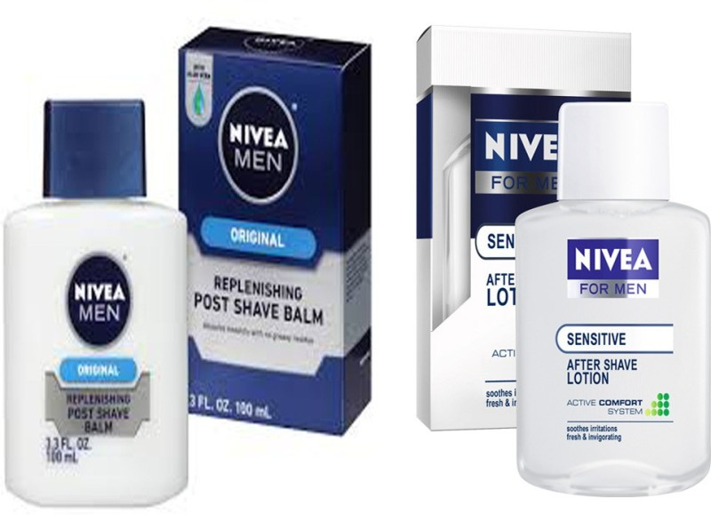 Nivea MEN ORIGINALS REPLENISHING AFTER SHAVE BALM 100 ML+NIVEA MEN SENSITIVE AFTER SHAVE LOTION 100 ML(100 ml)