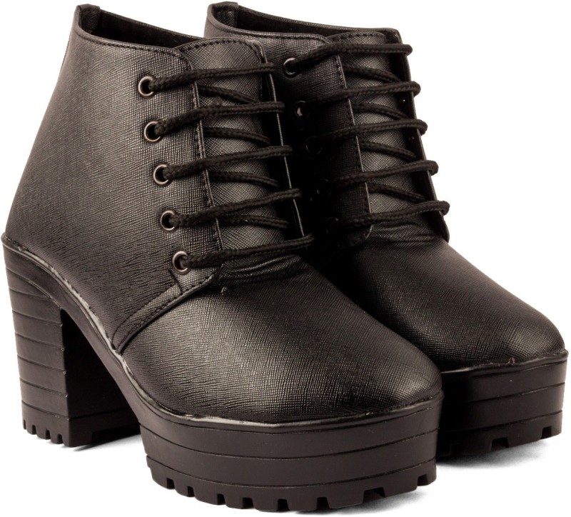 Cute Fashion Cute Fashion Black Ankle Boots BootsB