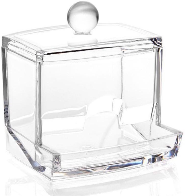 Premsons Cotton Swabs Bud Holder & Storage Box - Transparent Ear Bud Holder Vanity Box(transperent)