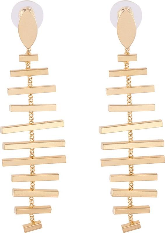 The Bling Stores Golden Ladder Design Trendy Earrings Alloy Drops & Danglers