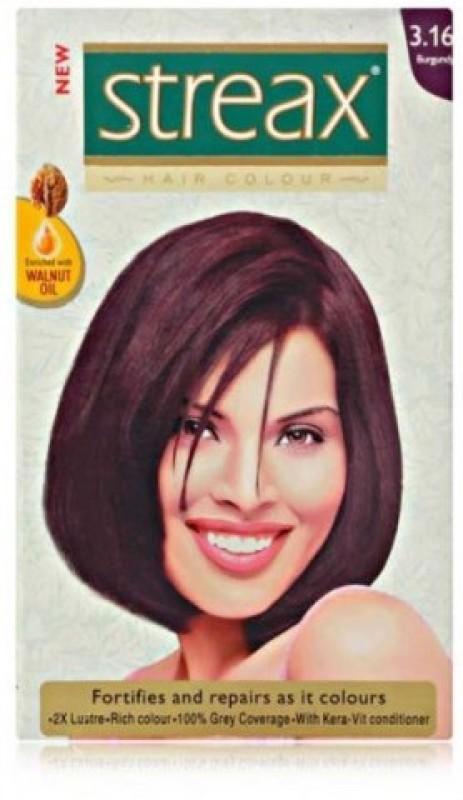 Streax Smart Pack Hair Color(Burgandy 3.16)