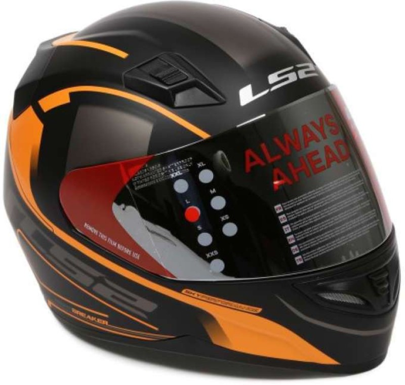 LS2 Night Breaker Motorbike Helmet(Black)