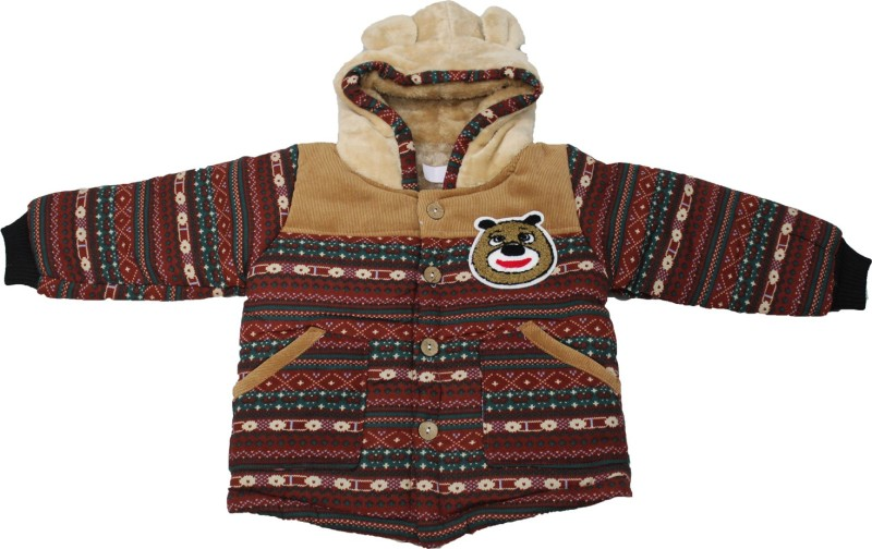 Cheeseling Full Sleeve Graphic Print Baby Boys & Baby Girls Jacket