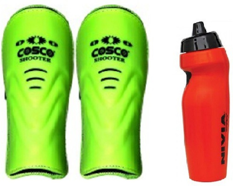 Cosco Combo of two, one Pair of Shooter Shin Guard and one Radar Sipper (Color On Availability) Football Kit