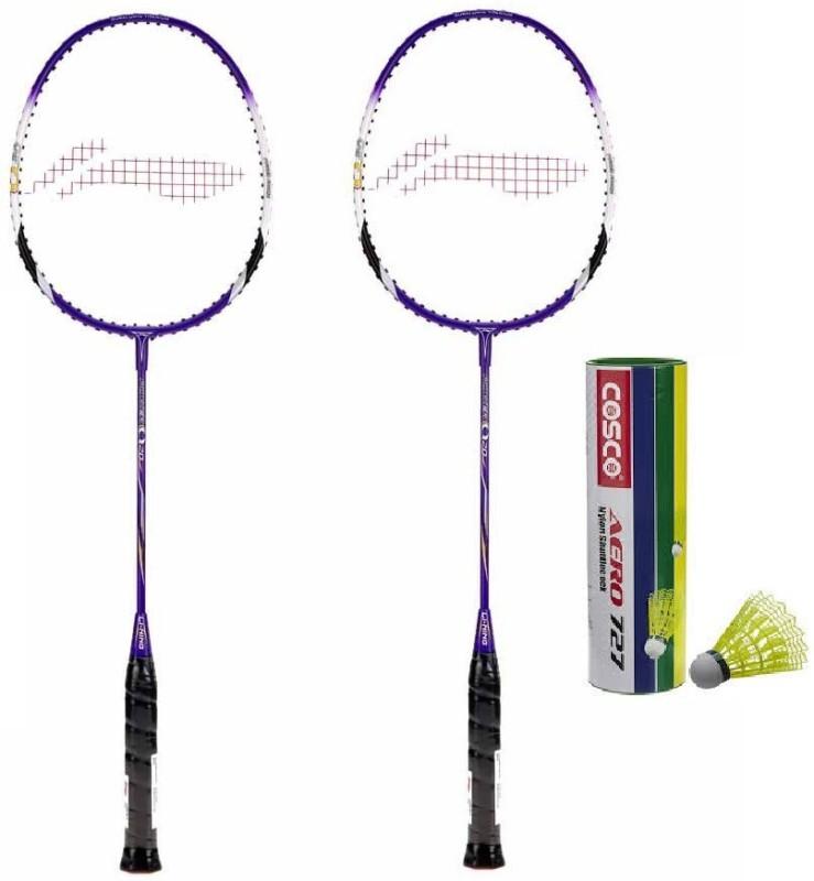 Li-Ning Q20 Strung Badminton Racket with Aero Nylon 727 Shuttle...