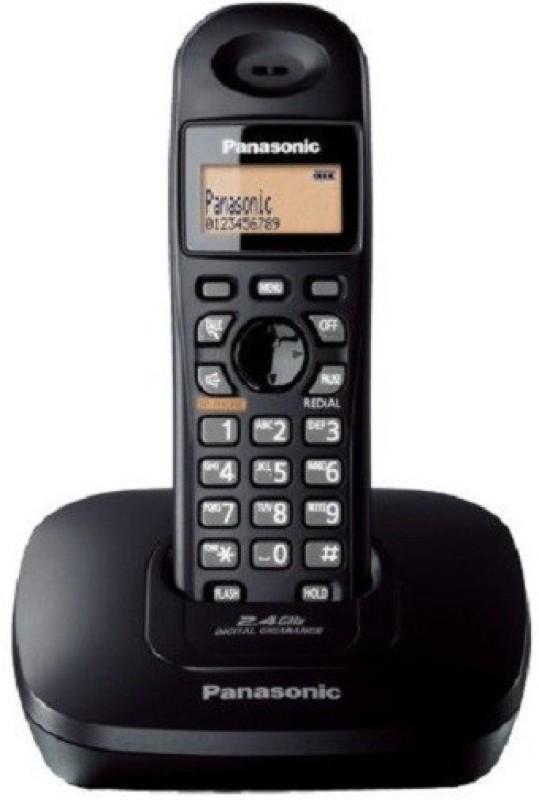 Panasonic KX-TG3611SX Cordless Landline Phone(Black)