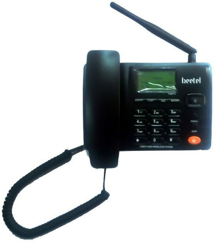 Beetel F1N Corded & Cordless Landline Phone(Black, White)