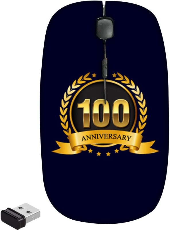 99Sublimation 100 Years Anniversary Wireless Optical Mouse(Bluetooth, Black)
