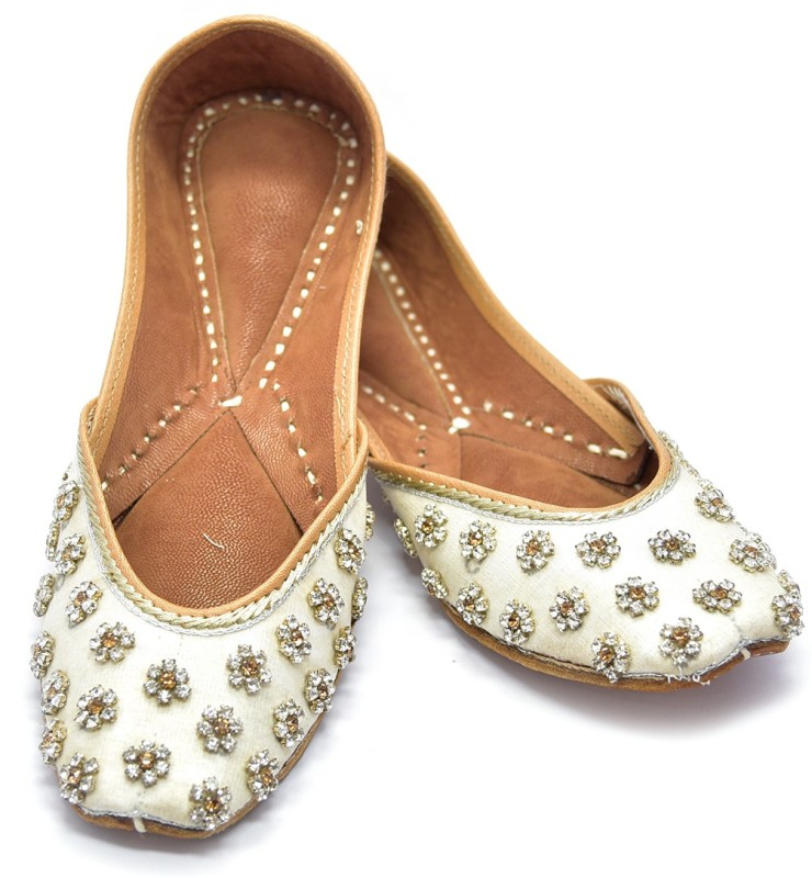 Blinder Cream Women's ladies Smarty casual party Women's Bellies For Women(37, Natural) image