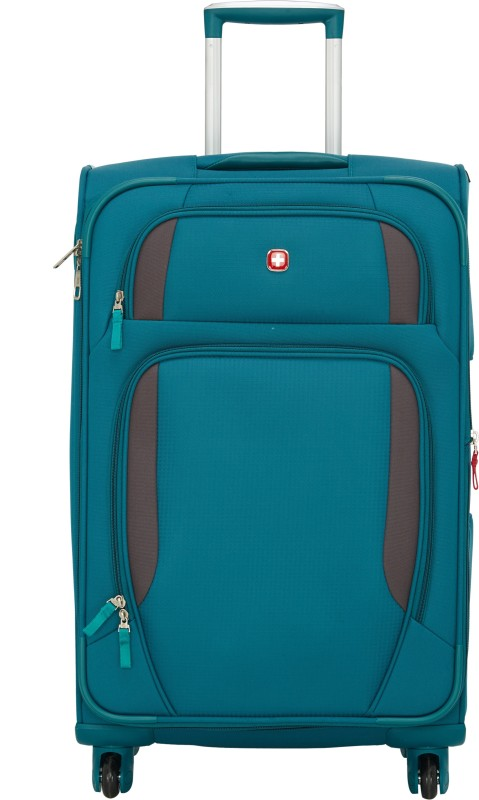 Swiss Gear 24 Spinner Lugano Expandable Check-in Luggage - 24 inch(Blue)