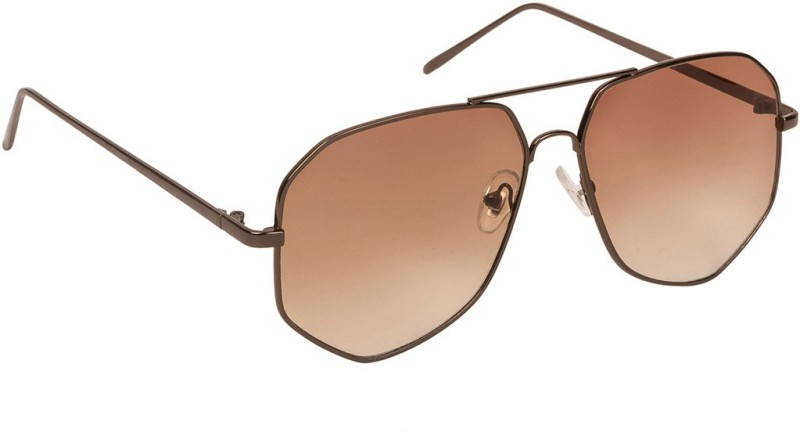 Arzonai Aviator Sunglasses(Brown) image
